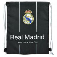 """Sac de umar cu snur """"One color, one club"""" Real Madrid negru"""