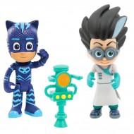 Set 2 figurine articulate Pisoi cu lumini si Romeo cu arma Eroi in Pijama