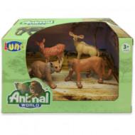 Set 4 figurine Animale Salbatice Animal World 621056