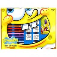 Set creativ fete de stampile si carioci SpongeBob Pantaloni Patrati