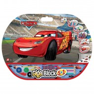 Set creativ Fulger McQueen Cars Giga Block 5 in 1