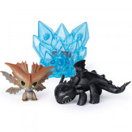 Set de joaca Cloudjumper si Furia Noptii cu cristal luminos How to Train Your Dragon