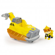 Set de joaca Rubble Deluxe Vehicle Patrula Catelusilor Mighty Pups Charged Up