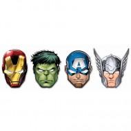 Set masti Iron Man, Hulk, Capitanul America si Thor Avengers 6 bucati