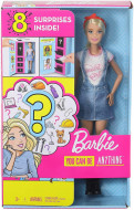 Set papusa Barbie blonda cu 8 accesorii surpriza Barbie You Can Be Anything