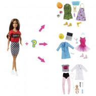 Set papusa Barbie satena cu 8 accesorii surpriza Barbie You Can Be Anything