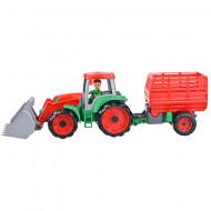 Tractor Truxx cu remorca rosie Lena 55 cm