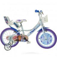 """Bicicleta cu roti ajutatoare Frozen 16"""""""