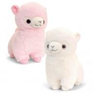 Lama de plus alb sau roz Keel Toys 15 cm