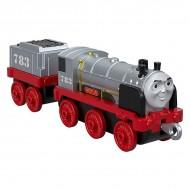 Locomotiva metalica Merlin Invizibilul cu vagon Thomas si Prietenii