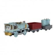 Locomotiva motorizata Lexi cu doua vagoane Thomas si Prietenii Track Master
