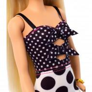 Papusa Barbie in rochie cu buline Barbie Fashionistas