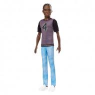 Papusa Ken in tricou de baschet Barbie Fashionistas