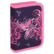 Penar echipat cu parti pliabile Butterfly roz Spirit 19 piese
