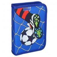 Penar echipat cu parti pliabile Football Goal albastru Spirit 28 piese