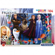 Puzzle 3D Frozen 2 Clementoni 104 piese