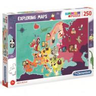 Puzzle Exploring Maps - Personalitati - Clementoni 250 piese