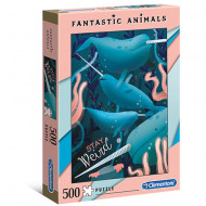 Puzzle Fantastic Animals Stay Weird Clementoni 500 piese