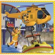 Puzzle Pompierul Sam 3 in 1