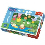Puzzle Purcelusa Peppa 60 piese