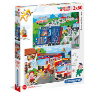 Puzzle Rescue Heroes Clementoni 2x60 piese
