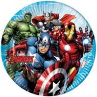 Set 8 farfurii de unica folosinta 23 cm Avengers