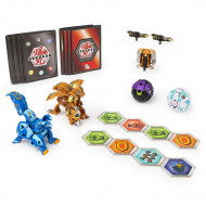 Set de joaca Dragonoid Ultra vs Howlkor Ultra, Baku-Gear 4 Pack Bakugan Armored Alliance