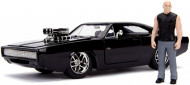 Set de joaca figurina Dom si masinuta metalica Dodge Charger R/T Fast and Furious