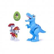 Set de joaca Marshall and Velociraptor Patrula Catelusilor Dino Rescue