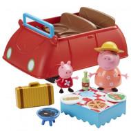 Set de joaca Peppa's Pig Red Car Purcelusa Peppa