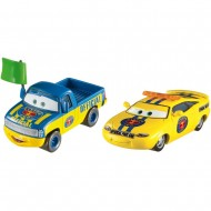Set de masinute metalice Dexter Hoover si Charlie Checker Disney Cars