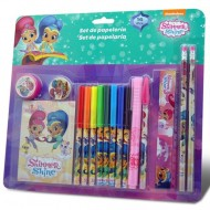 Set de papetarie Shimmer and Shine 16 bucati