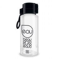 Sticla pentru apa transparent-negru Ars Una 650 ml