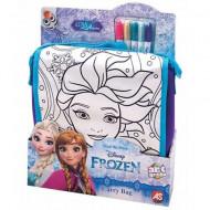 Set geanta de umar cu 5 carioci Elsa Frozen
