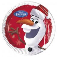 Set 8 farfurii de unica folosinta 23 cm Olaf Frozen
