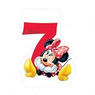Lumanare tort cifra 7 Minnie Mouse Disney
