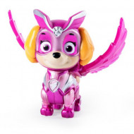 Figurina mecanica Skye Mighty Pups Super Paws Patrula Catelusilor