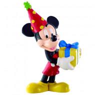 Figurina Mickey Mouse sarbatorind Mickey si Minnie Mouse Bullyland
