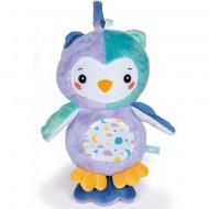 Jucarie de plus cu sunete si lumini Goodnight Owl Clementoni Baby
