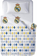 Lenjerie pat 3 piese FC Real Madrid RM181080