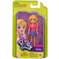 Papusa Polly in rochita cu dungi Polly Pocket