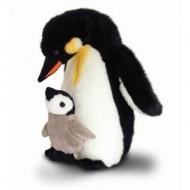Pinguin de plus cu pui Keel Toys 30 cm