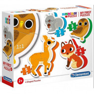 Puzzle 4 in 1 Animale din Padure Clementoni 14 piese