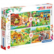 Puzzle 4 in 1 Ferma Clementoni 160 piese