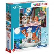Puzzle Disney Animals Clementoni 2x20 piese
