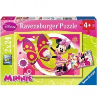 Puzzle Minnie Mouse 2 x 24 Ravensburger