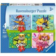 Puzzle Patrula Catelusilor 4 in 1 Ravensburger 72 piese