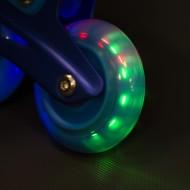Role reglabile Nils NJ4613 cu roti LED- albastru