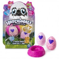 Set 2 figurine surpriza in ou si cuib Hatchimals Seria 2
