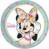 Set 8 farfurii de unica folosinta 23 cm Minnie Mouse